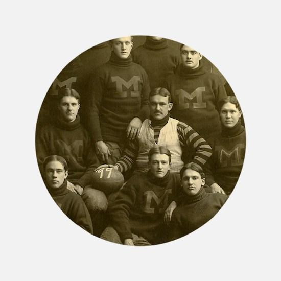 """1899 Michigan Wolverines 3.5"""" Button"""