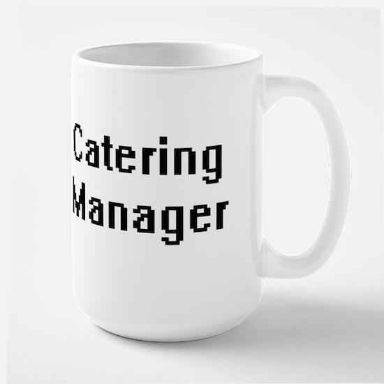 Catering Manager Retro Digital Job Design Mugs