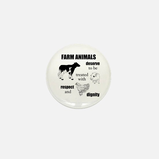 Farm Animals Mini Button