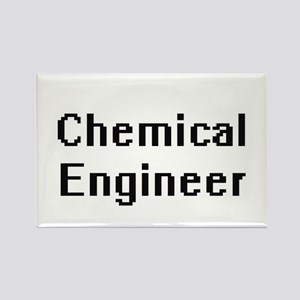 Chemical Engineer Retro Digital Job Design Magnets