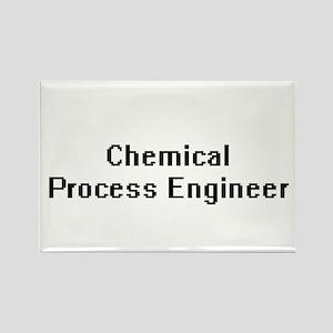 Chemical Process Engineer Retro Digital Jo Magnets