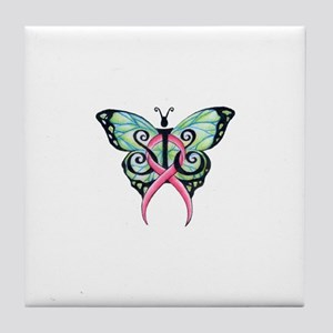 sis clean butterly Tile Coaster