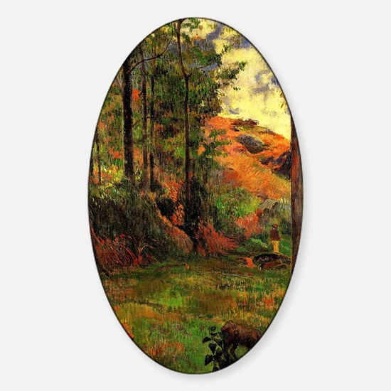 Gauguin - Path Down to the Aven Sticker (Oval)