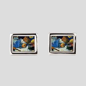 Gauguin - Still Life with Te Rectangular Cufflinks