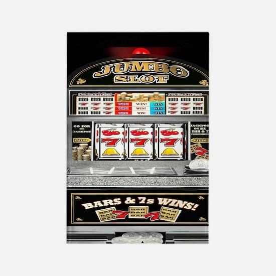 Cute Gambling Rectangle Magnet
