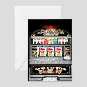 Slot machine greeting cards cafepress greeting card m4hsunfo