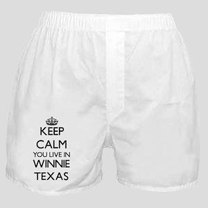 Keep calm you live in Winnie Texas Boxer Shorts