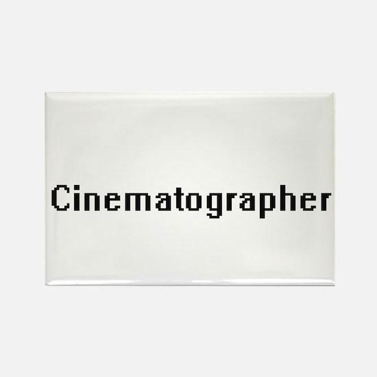 Cinematographer Retro Digital Job Design Magnets
