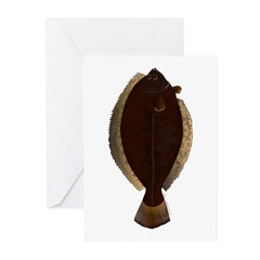 Winter Flounder Greeting Cards
