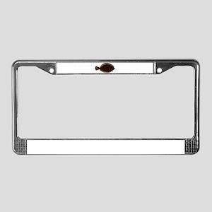 Winter Flounder License Plate Frame