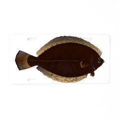 Winter Flounder Aluminum License Plate