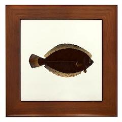 Winter Flounder Framed Tile