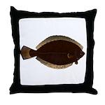 Winter Flounder Throw Pillow