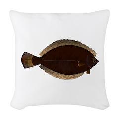 Winter Flounder Woven Throw Pillow