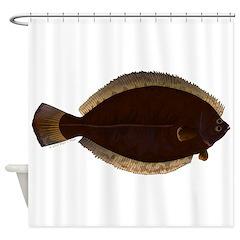 Winter Flounder Shower Curtain