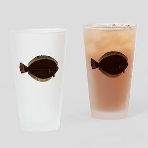 Winter Flounder Drinking Glass