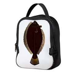 Winter Flounder Neoprene Lunch Bag