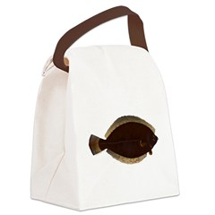 Winter Flounder Canvas Lunch Bag