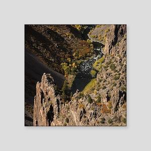 "Black Canyon Square Sticker 3"" x 3"""