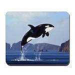 Orca Breaching Mousepad