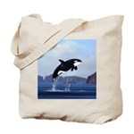 Orca Breaching Tote Bag