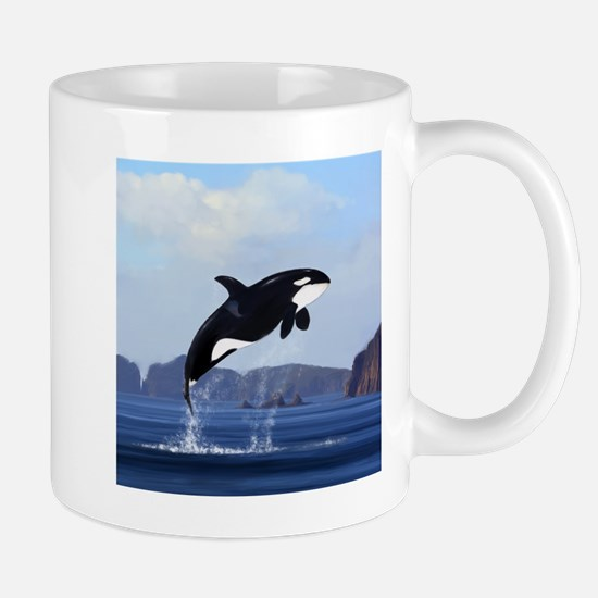 Orca Breaching Mugs