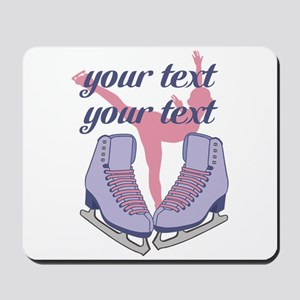 Personalized Ice Skating Mousepad