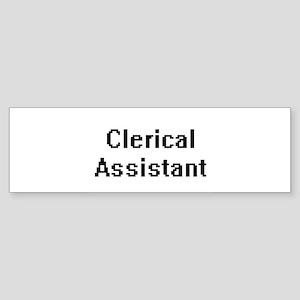 Clerical Assistant Retro Digital Jo Bumper Sticker