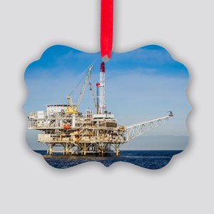 Oil Rig Picture Ornament