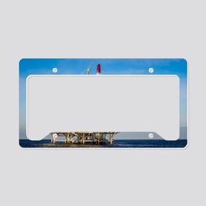 Oil Rig License Plate Holder