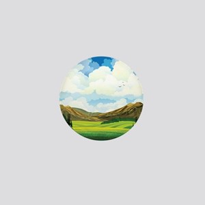 Country Landscape Mini Button