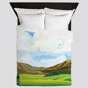 Country Landscape Queen Duvet