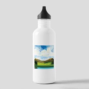 Country Landscape Water Bottle