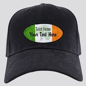 Irish Flag Custom Black Cap