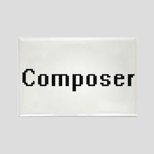 Composer Retro Digital Job Design Magnets