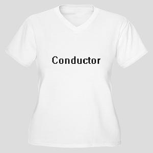 Conductor Retro Digital Job Desi Plus Size T-Shirt