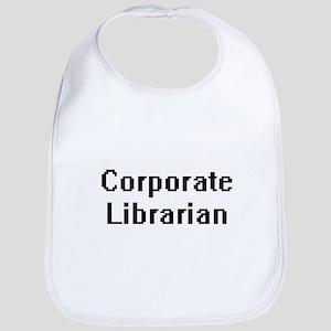 Corporate Librarian Retro Digital Job Design Bib