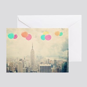 128257094 Balloons Over New York Greeting Card