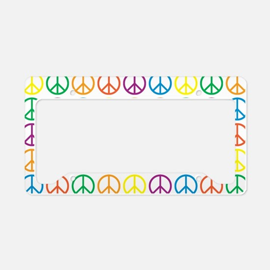Peace Symbols License Plate Holder