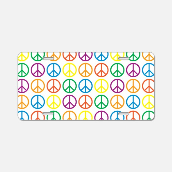 Peace Symbols Aluminum License Plate