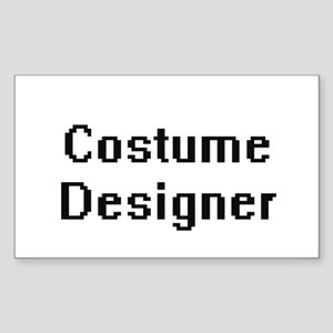 Costume Designer Retro Digital Job Design Sticker