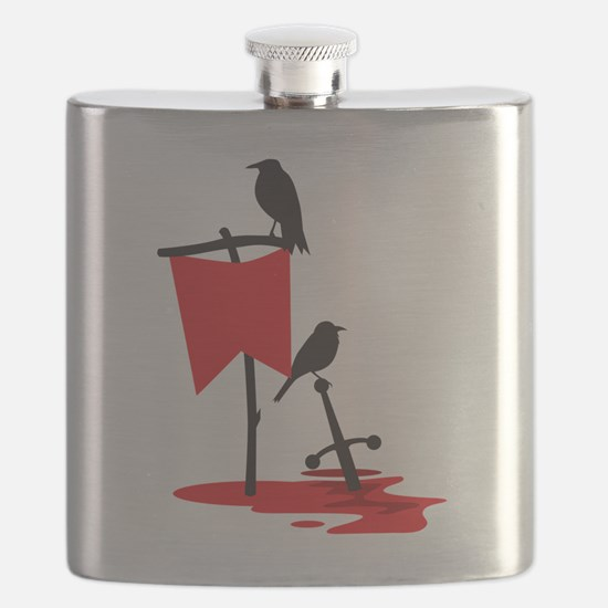 Crows on the battlefield RED Flask