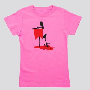 Crows on the battlefield RED Girl's Tee