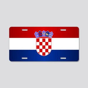 Croatia Flag Aluminum License Plate