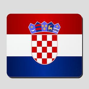 Croatia Flag Mousepad