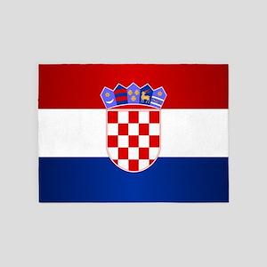 Croatia Flag 5'x7'Area Rug