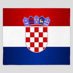 Croatia Flag King Duvet