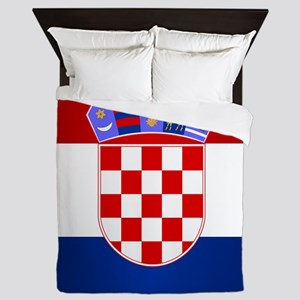 Croatia Flag Queen Duvet