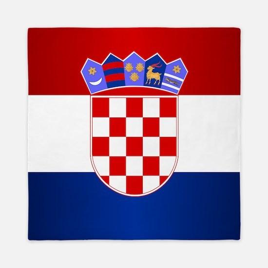 Croatia Flag Queen Duvet