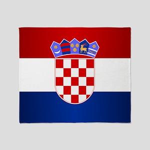 Croatia Flag Throw Blanket
